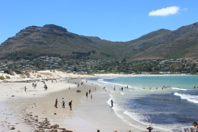 Beach time at beautiful Hout Bay - one of the best beaches in Cape Town