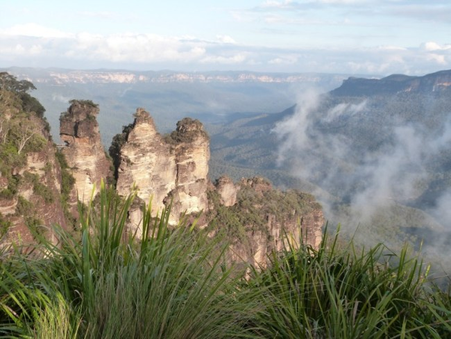 Hiking in the Blue Mountains during my 2014 travels