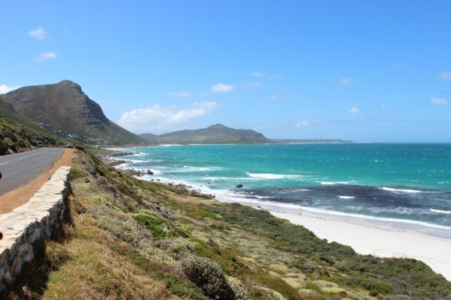 Driving the Cape Peninsula in South Africa