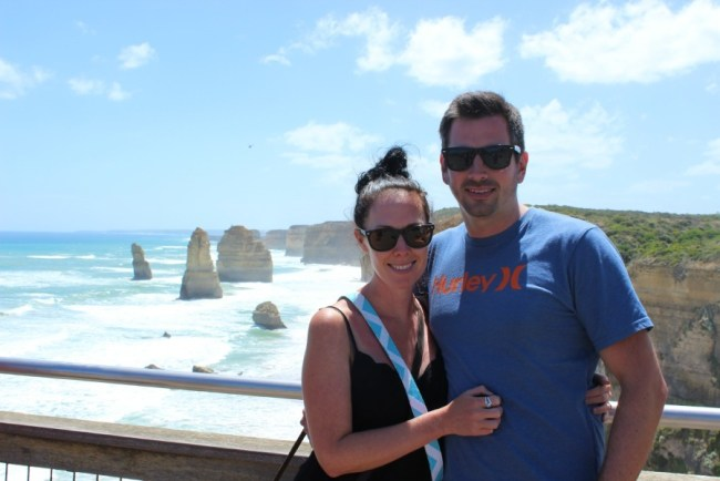 Checking out the Twelve Apostles on Australia's Great Ocean Road
