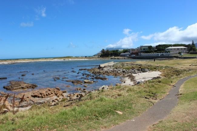 Kommetijie coastal path in South Africa