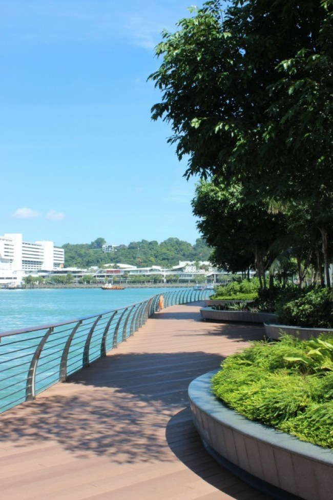 Sentosa Island Boardwalk in Singapore