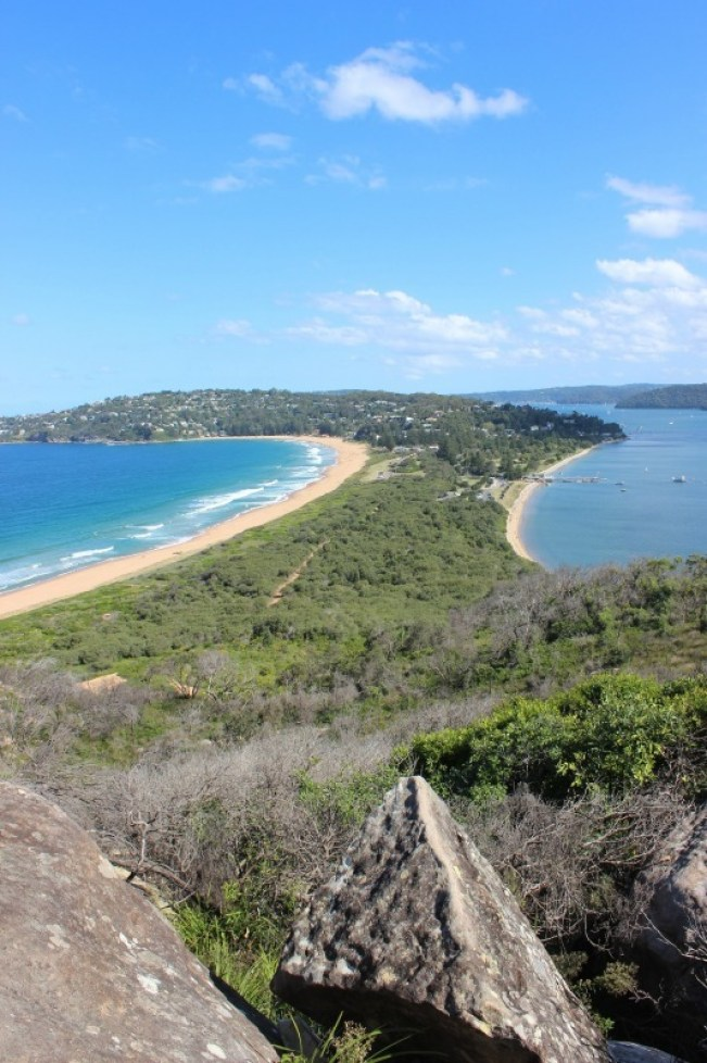 View over Palm beach Sydney from Barrenjoey Lighthouse