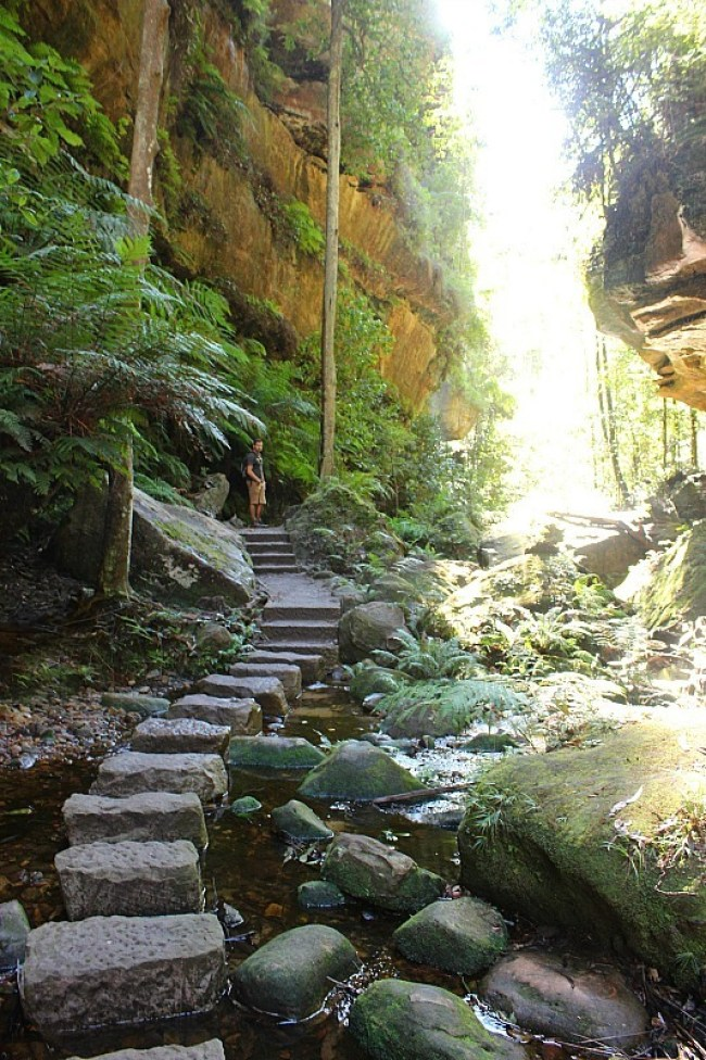 Grand Canyon stepping stones in the Blue Mountains of Australia
