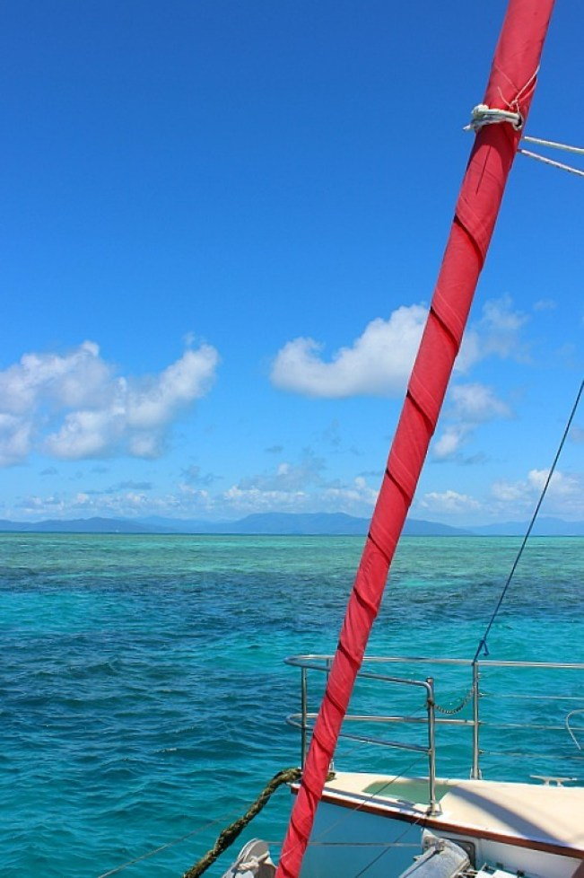 Sailing to Great Barrier Reef from Cairns Australia