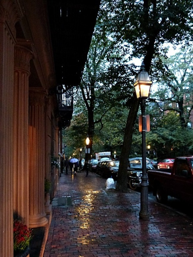 Beacon Hill during fall in Boston