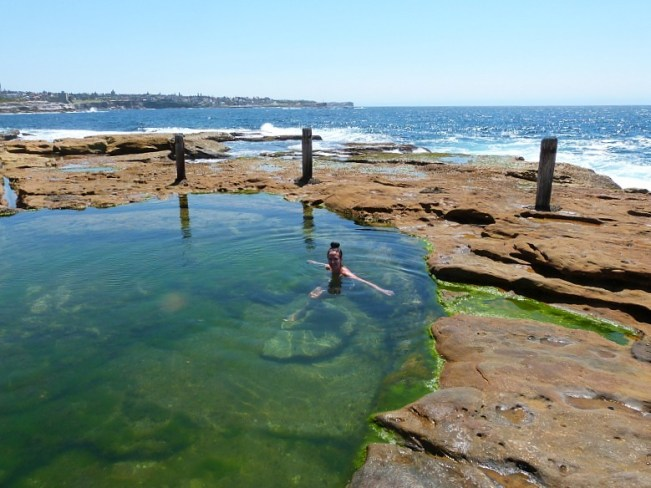 Rock pool on Coogee to Maroubra walk - one of the best Sydney walks
