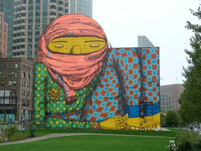 The Boston Giant - some of the street art in Boston
