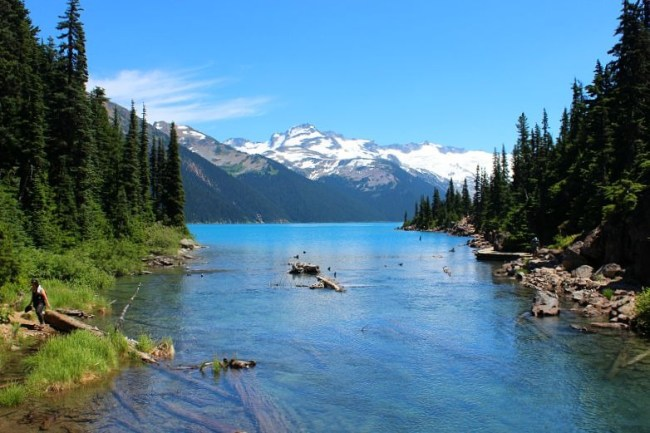 Beautiful Garibaldi Lake, in the mountains near Vancouver