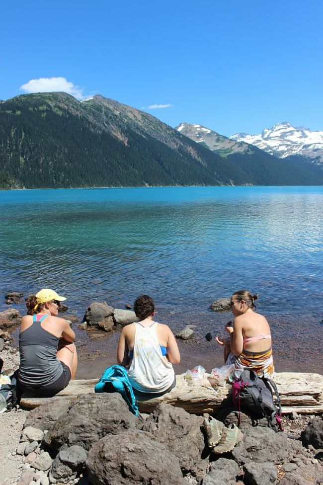 Eating lunch at Garibaldi Lake