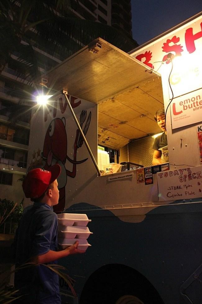 Five Star Shrimp at Pau Hana Food trucks in Waikiki