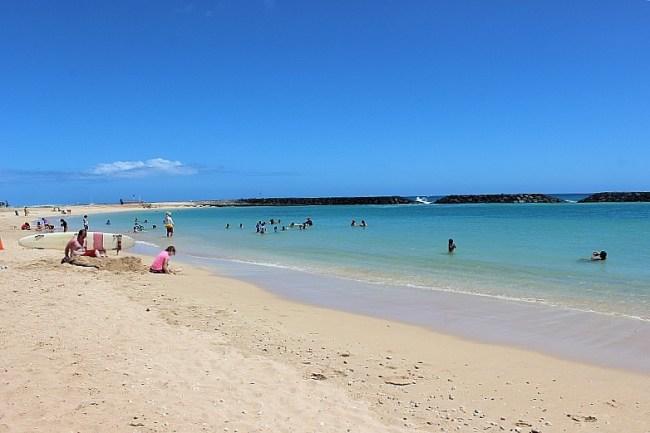 Magic Island Lagoon in Waikiki, Hawaii