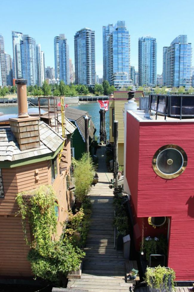The Best Vancouver Itinerary: 4 Days in Summer. Checking out the Granville Island houseboats during summer in Vancouver