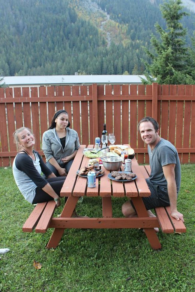 BBQ with friends at home during month three of digital nomad life
