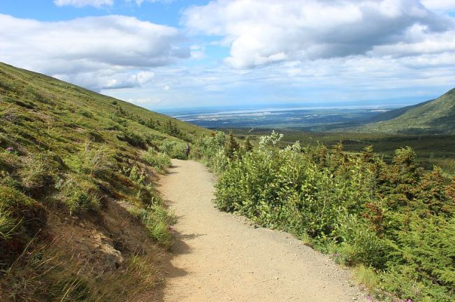 Descending Flattop Mountain Alaska - part of my Summer in Alaska Itinerary