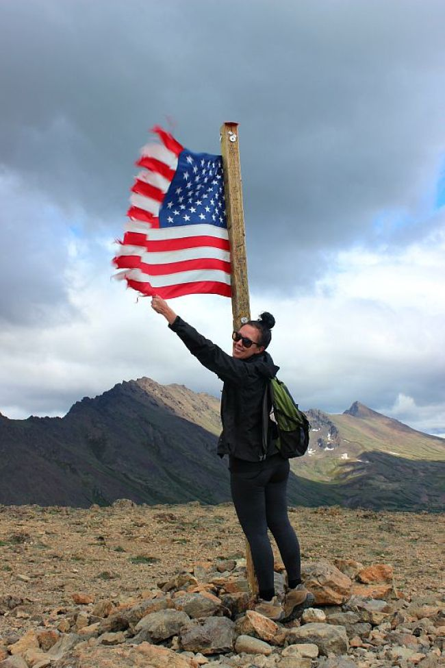 Summit of Flattop Mountain near Anchorage Alaska