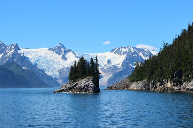 Granite island in Kenai Fjords National Park, Alaska