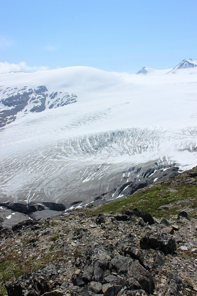 The Harding Icefield in Alaska