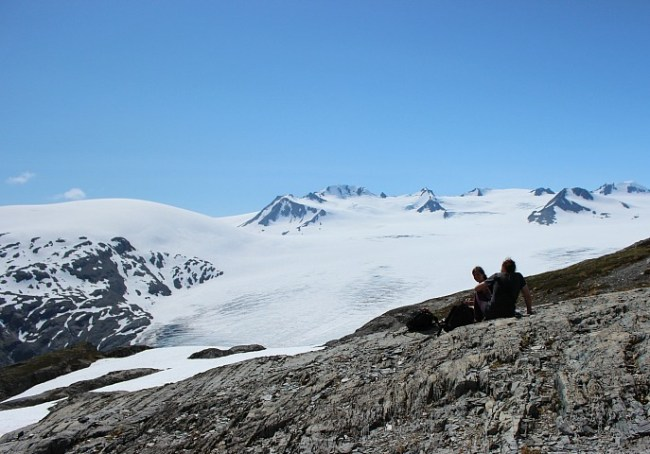 Views from the top of the Harding Icefield in Alaska