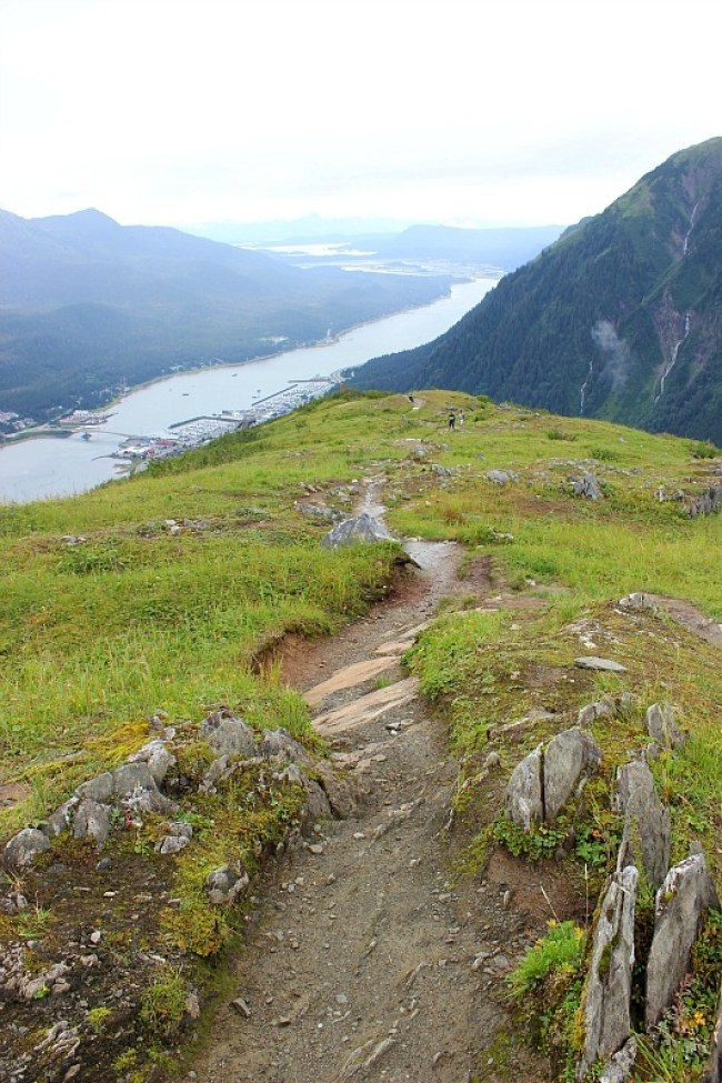 Beautiful views from Mt Roberts above Juneau in the rain