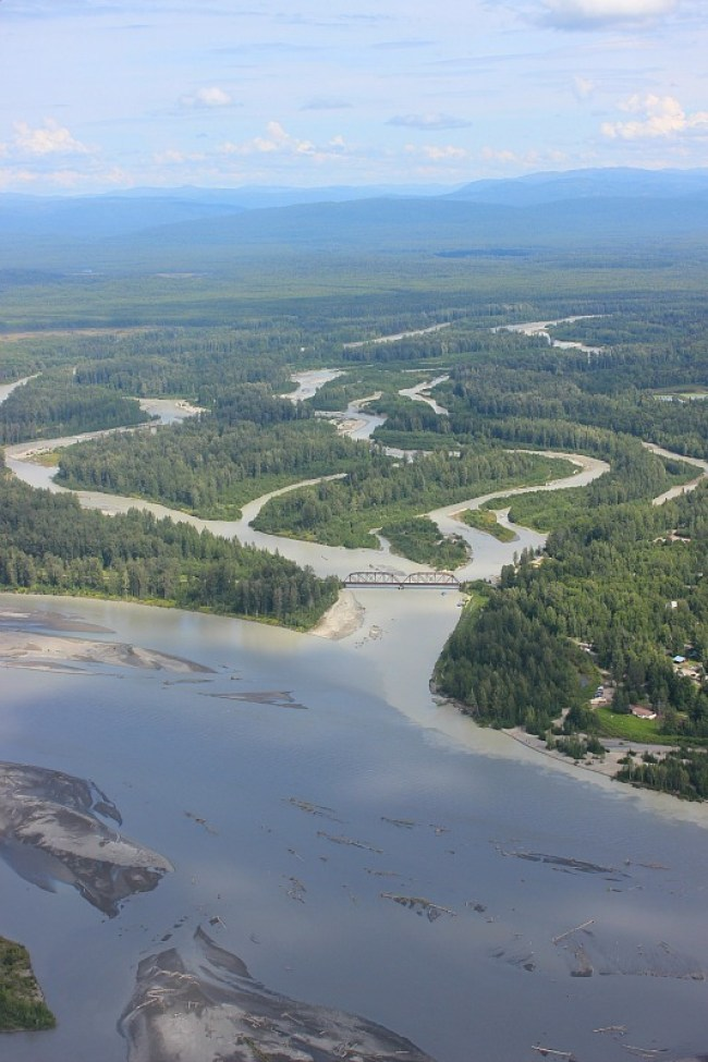 Flying over the Talkeetna river on my Denali Flightseeing trip