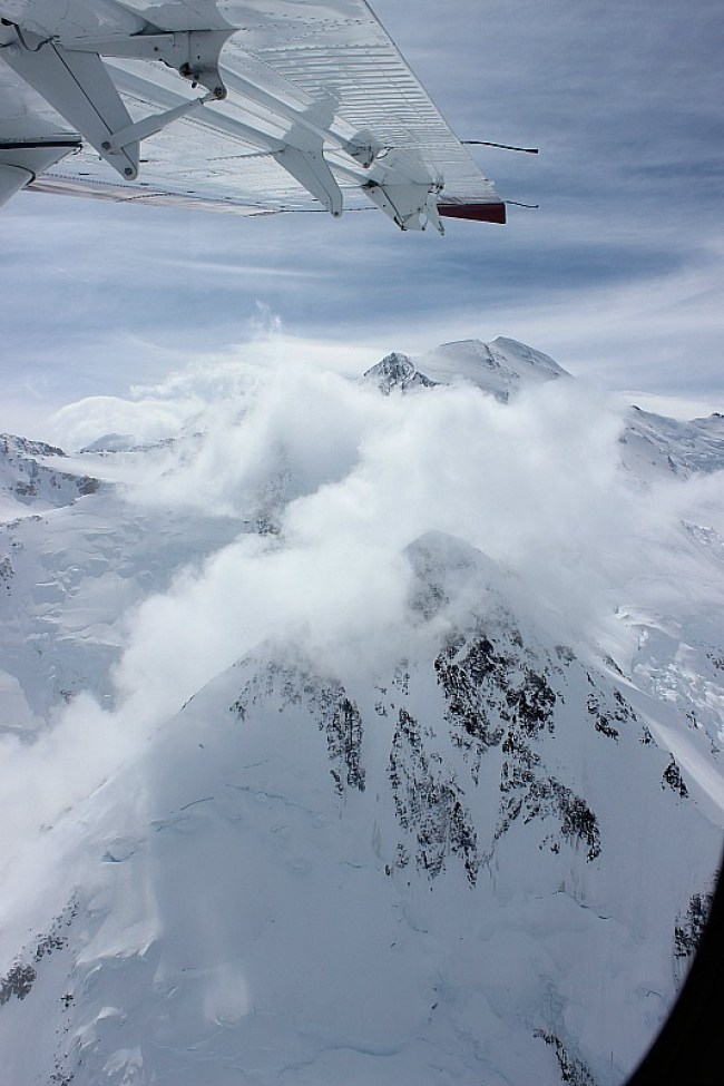 Flying over Denali on a Denali Flightseeing Tour