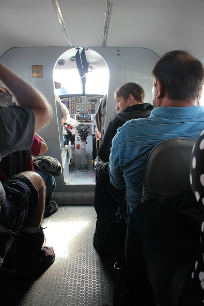 Inside the Otter - on my Denali Flight tour from Talkeetna