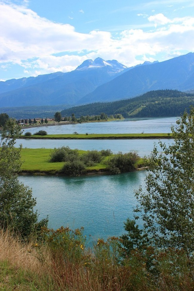 Columbia river in Revelstoke