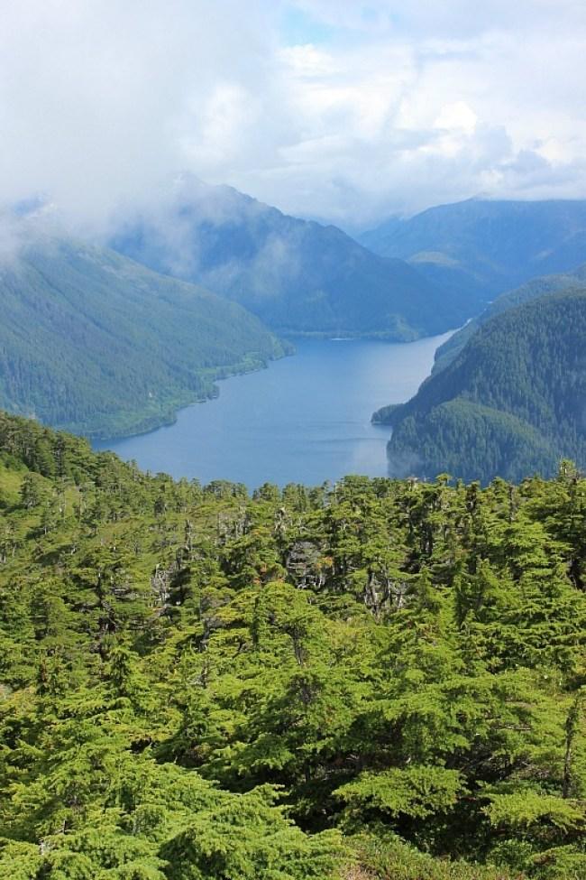 Fjord near Sitka from Mount Verstovia in Alaska