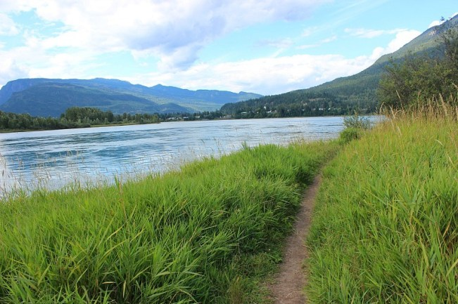 Riverside path in Revelstoke Canada