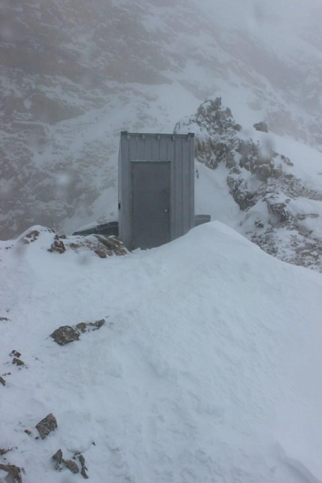 Abbot Pass Hut outhouse