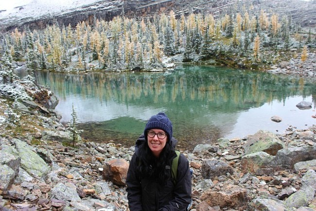 Lake in Canadian Rockies on way to Abbot Pass Hut