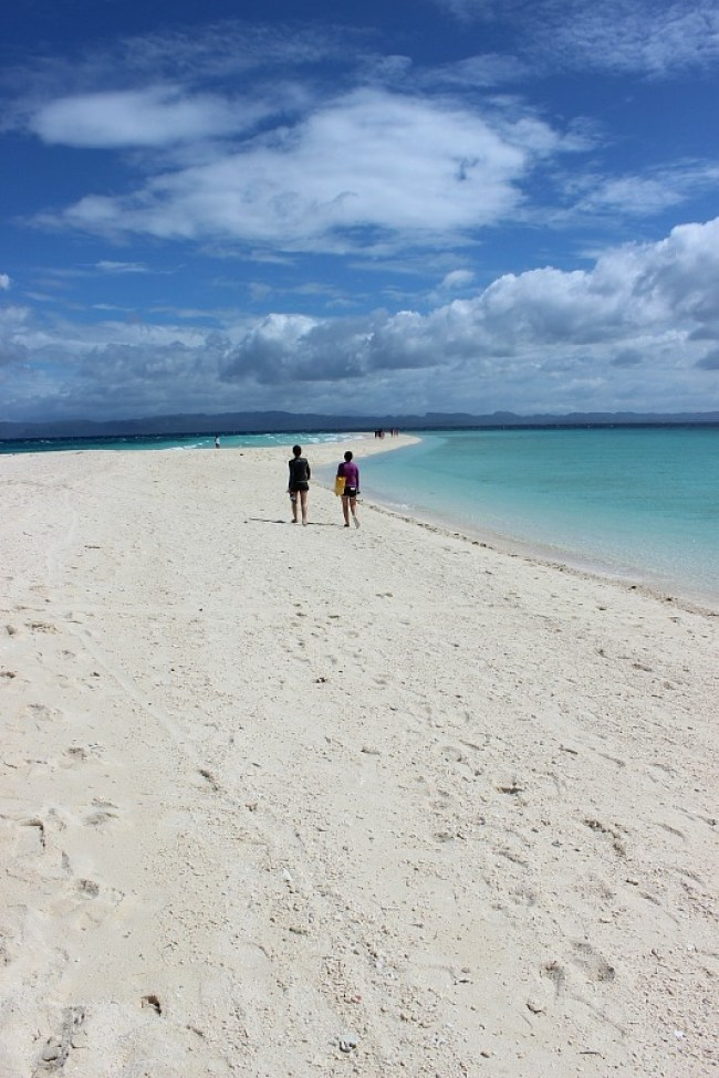 Beach on Kalanggaman Island during month seven of Digital Nomad Life