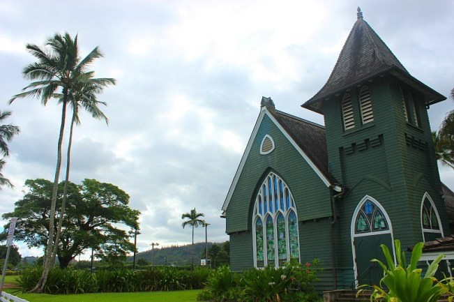 Hanalei Church on Kauai, the Garden Island