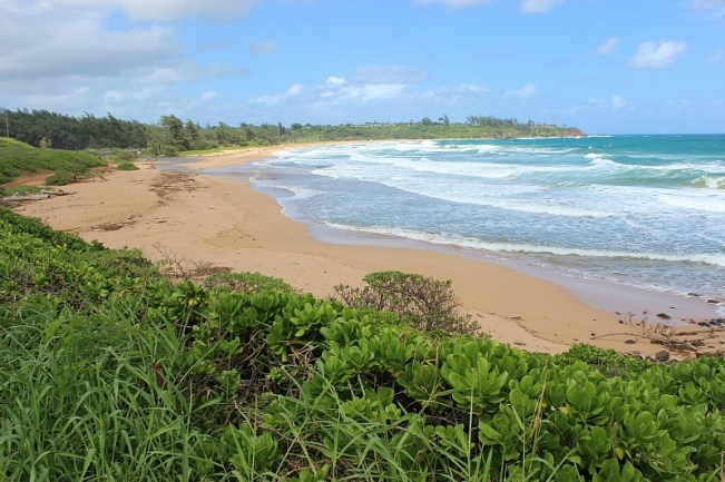 Kealia beach on Kauai, the Garden Island