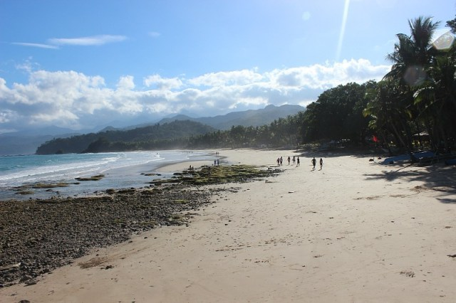 Visiting Sabang beach in the Philippines during month seven of Digital Nomad Life