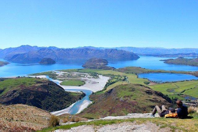 View over Lake Wanaka, one of the jewels of the Otago Region