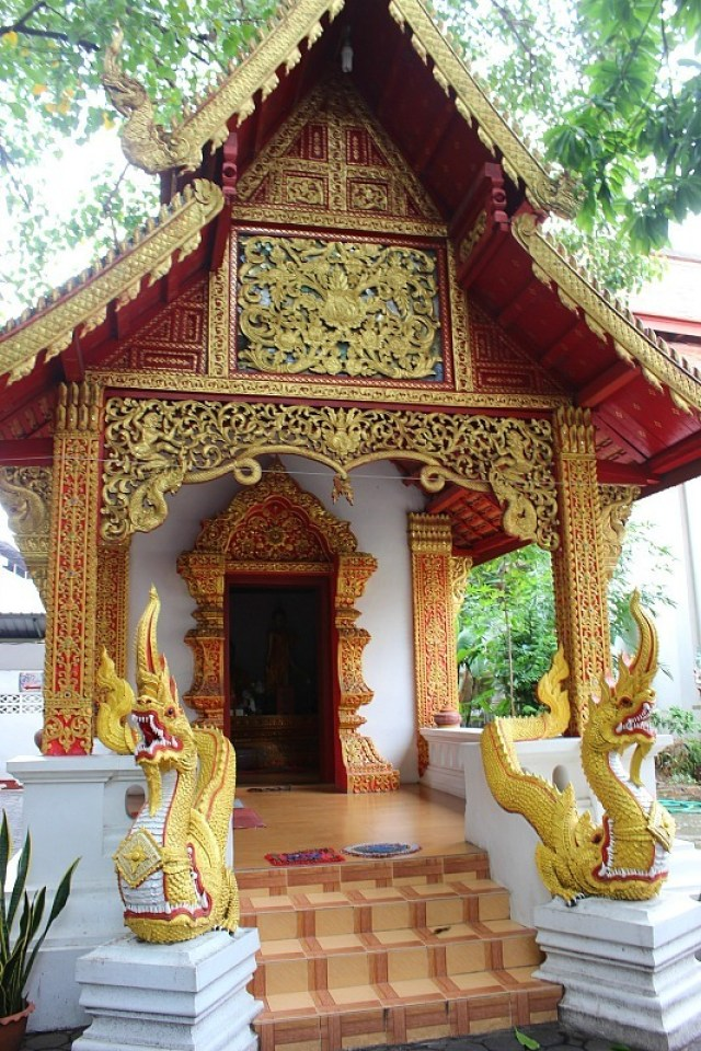 Golden temple in Chiang Mai, Thailand