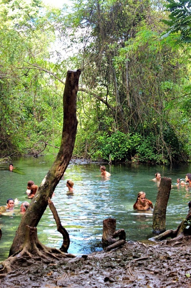 Sai Ngam secret hot springs near Pai, Thailand