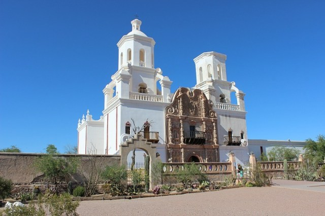 Visiting San Xavier Del Bac Mission near Tucson Arizona during month 10 of digital nomad life