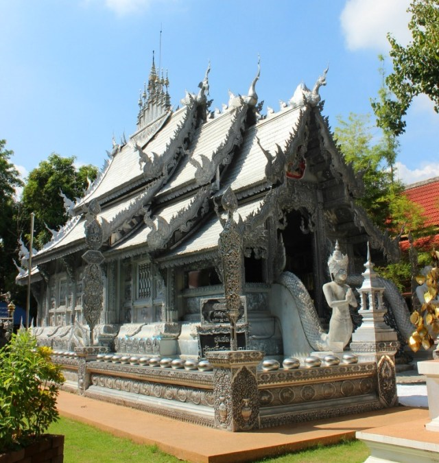 Silver temple in Chiang Mai, Thailand