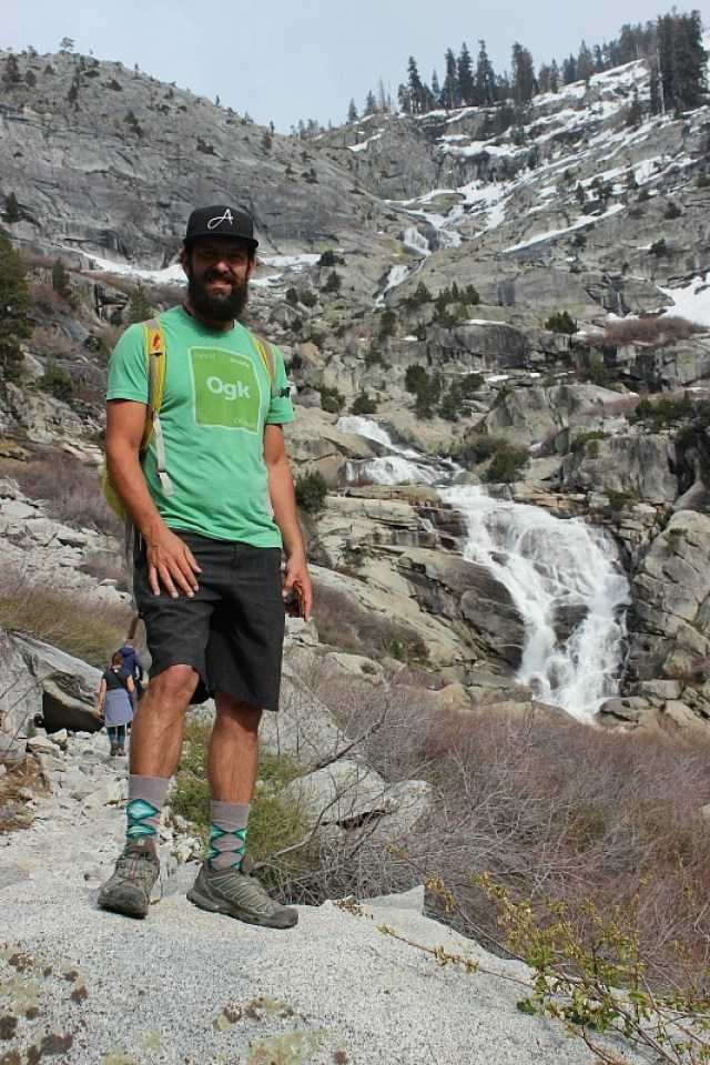 Hiking to Tokopah Falls in Sequoia National Park during month 11 of digital nomad life