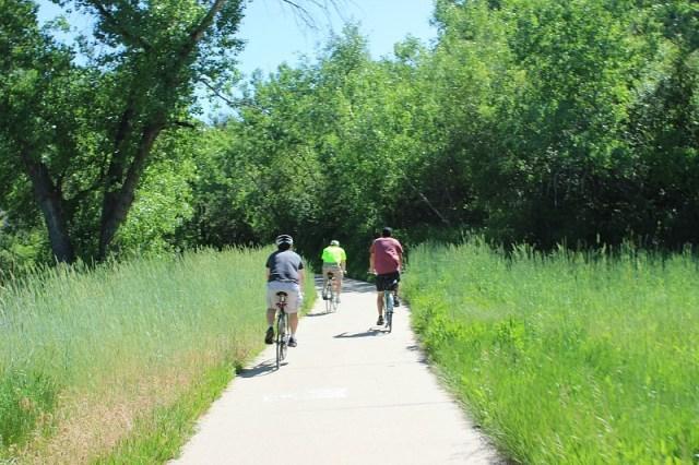 Biking in Arvada during month 12 of digital nomad life