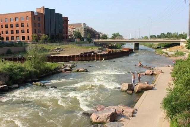 Visiting the Platte river in Denver during month 12 of digital nomad life