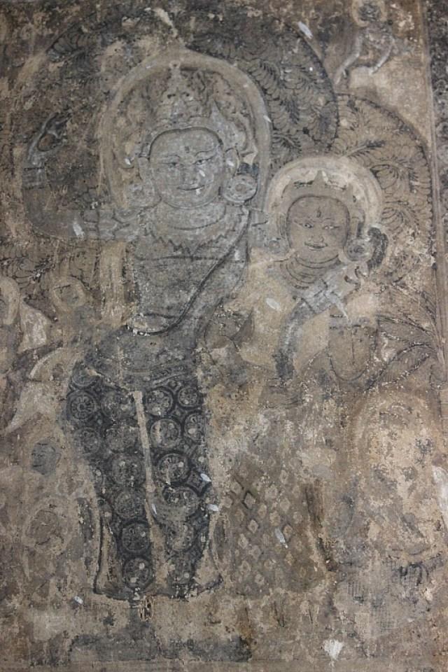 Bagan pagoda mural
