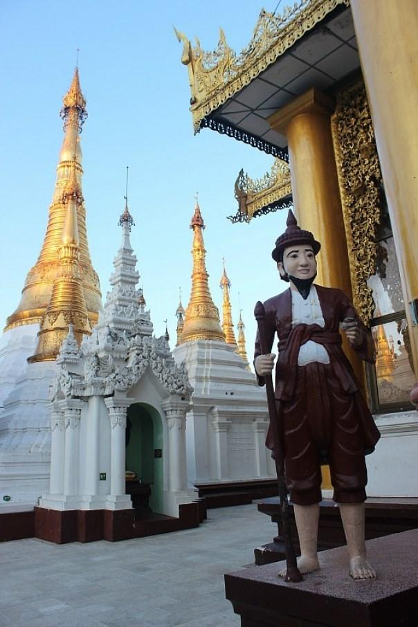 Shwedagon Pagoda statue in Yangon Myanmar