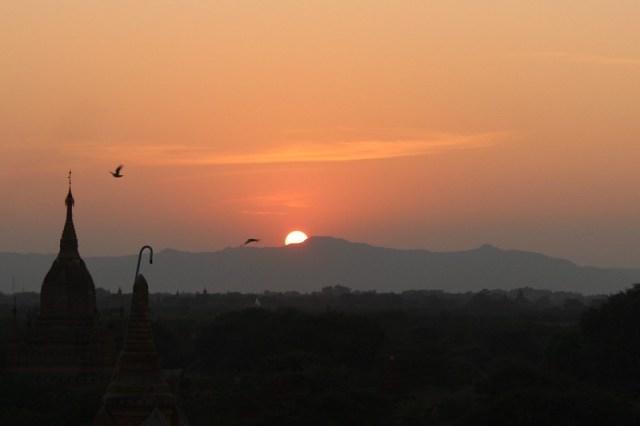Sunset from near Dhammayazika in Bagan