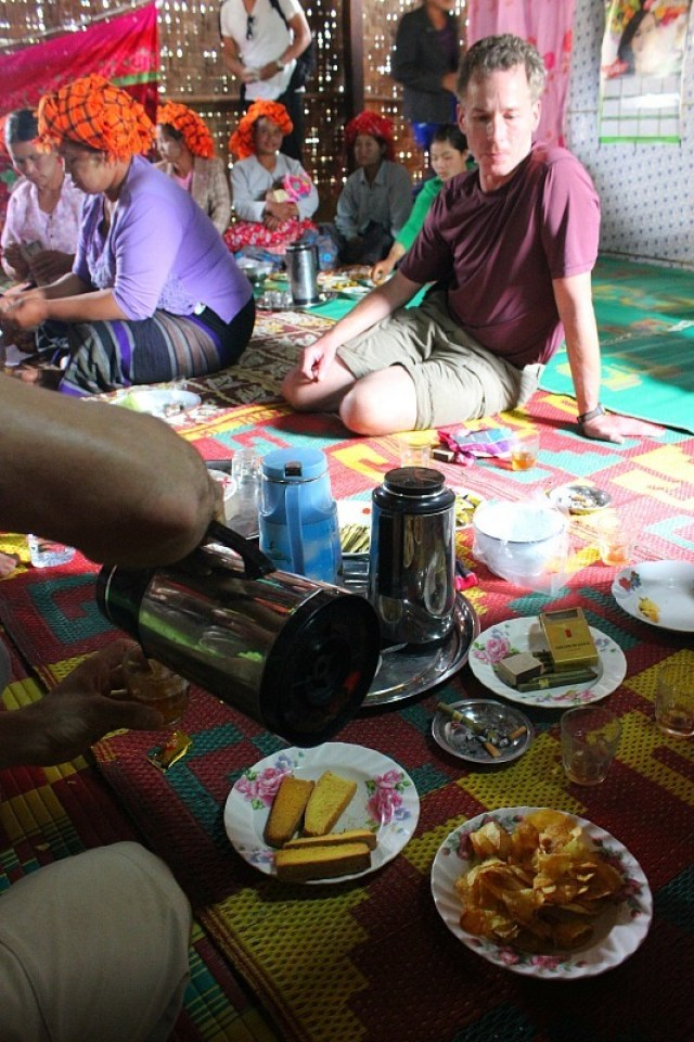 The Wedding spread - a stop during trekking Kalaw to Inle Lake