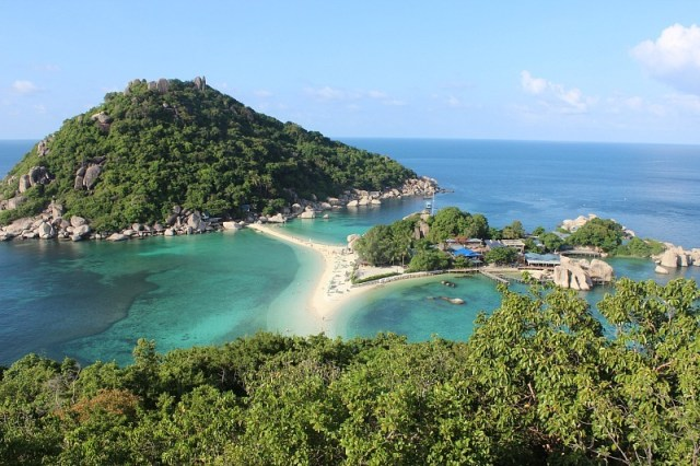 View over Ko Nang Yuan - a day trip from Koh Tao