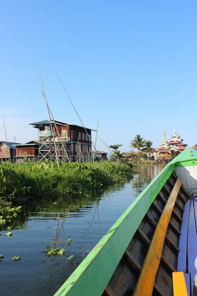 Boating out on Inle Lake